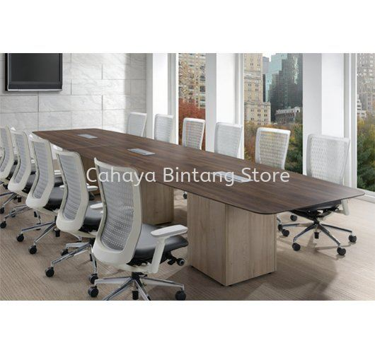 BOAT SHAPE MEETING TABLE C/W FLIPPER COVER PXI 4812