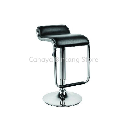 HIGH BARSTOOL CHAIR C/W ROUND CHROME METAL BASE ST19