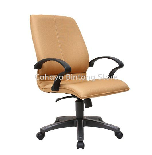 BONZER STANDARD MEDIUM BACK FABRIC CHAIR WITH POLYPROPYLENE BASE ACL 6001