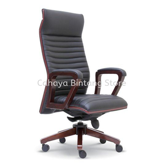 STONOR WOODEN DIRECTOR HIGH BACK LEATHER OFFICE CHAIR - HOT ITEM WOODEN DIRECTOR OFFICE CHAIR | WOODEN DIRECTOR OFFICE CHAIR SETIA ALAM | WOODEN DIRECTOR OFFICE CHAIR SETIA AVENUE | WOODEN DIRECTOR OFFICE CHAIR JALAN AMPANG
