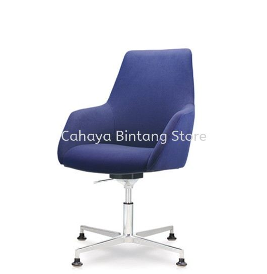 ANTHOM EXECUTIVE MEDIUM BACK FABRIC CHAIR C/W 4 PRONGED ALUMINIUM BASE WITH STUD AT6611F-15