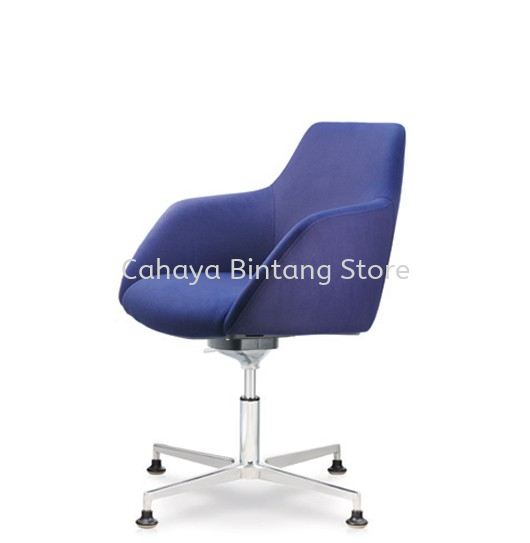 ANTHOM EXECUTIVE LOW BACK FABRIC CHAIR C/W 4 PRONGED ALUMINIUM BASE WITH STUD AT6612F-15