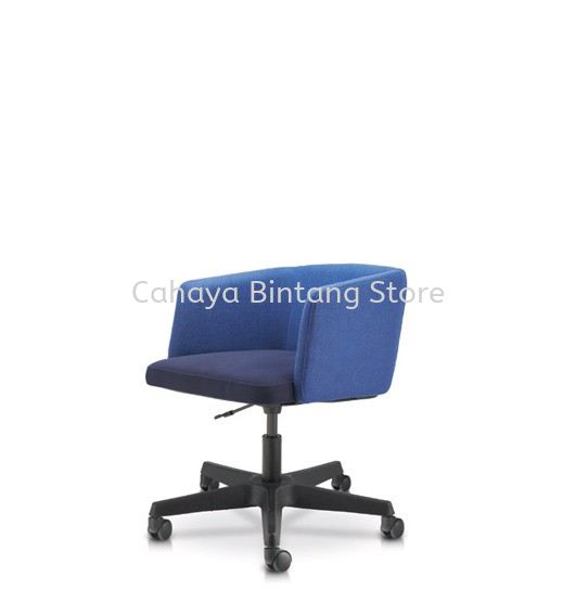 ANTHOM EXECUTIVE LOW BACK FABRIC CHAIR C/W POLYPROPYLENE BASE AT6632F-32