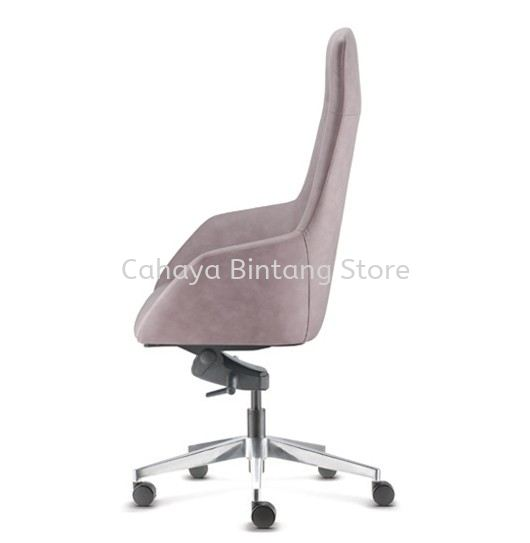 ANTHOM EXECUTIVE HIGH BACK LEATHER CHAIR C/W ALUMINIUM BASE AT6610L-16