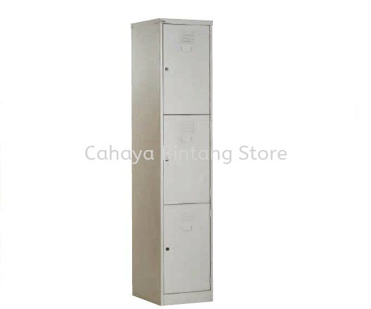 A114-A 3 COMPARTMENT STEEL LOCKER