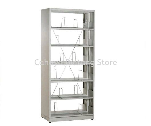 STEEL LIBRARY SHELVING SINGLE SIDED WITH SIDE PANEL AND 6 SHELVING -  Library Shelving Ulu Kelang | Library Shelving Danau Kota | Library Shelving Taman Sri Rampai