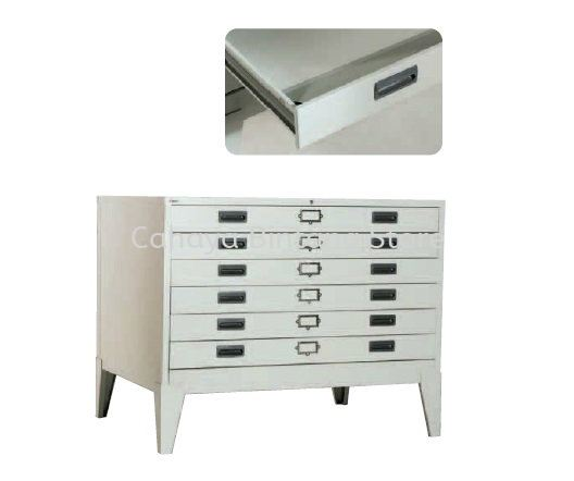 6 DRAWER HORIZONTAL PLAN FILE CABINET