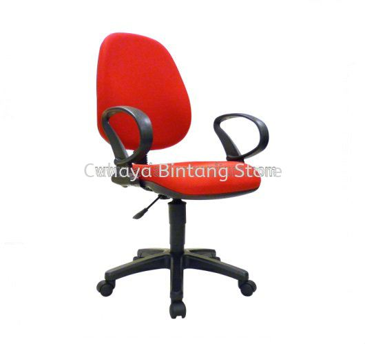 NOBLE TYPIST CHAIR FABRIC C/W POLYPROYPLENE BASE TZ 4300 (A)