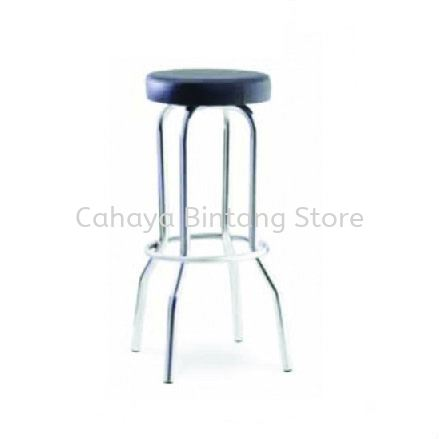 HIGH BARSTOOL CHAIR C/W CHROME METAL BASE ST6