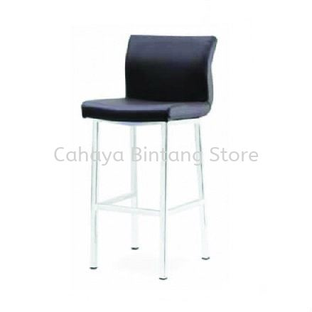 HIGH BARSTOOL CHAIR C/W EPOXY GREY METAL BASE ST7