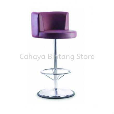 HIGH BARSTOOL CHAIR C/W ROUND CHROME METAL BASE ST4