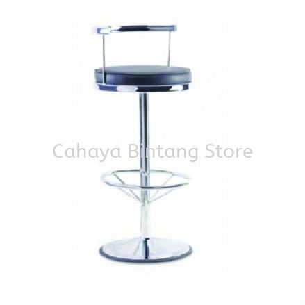 HIGH BARSTOOL CHAIR C/W ROUND CHROME METAL BASE ST5