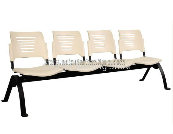 FOUR SEATER LINK CHAIR C/W EPOXY BLACK METAL BASE ACL 56-4N