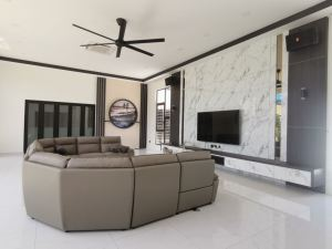 New Completed Project : Modern Living Room Interior Designs @ Pekan Nanas, Johor