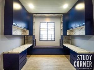 New Completed Project : Dark Blue Modern Study Room Interior Designs @ Kota Tinggi, Johor