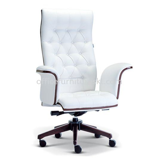 PARAGON DIRECTOR HIGH BACK LEATHER OFFICE CHAIR WITH WOODEN TRIMMING LINE