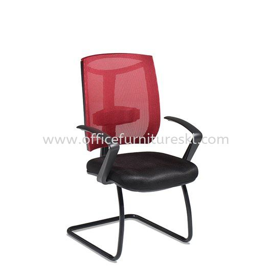 JENKAL VISITOR ERGONOMIC MESH CHAIR WITH STEEL BASE & BACK SUPPORT-AJK-N3