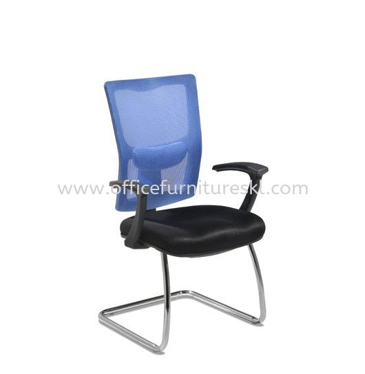 MELBY VISITOR ERGONOMIC MESH OFFICE CHAIR WITH CHROME BASE & BACK SUPPORT-ergonomic mesh office chair plaza perabot 2020 furniture mall | ergonomic mesh office chair mytown shopping centre | ergonomic mesh office chair top 10 best recommended office chair