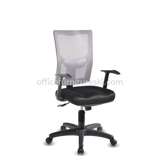 MELBY MEDIUM BACK ERGONOMIC MESH CHAIR WITH PP BASE & BACK SUPPORT-AMB-P2
