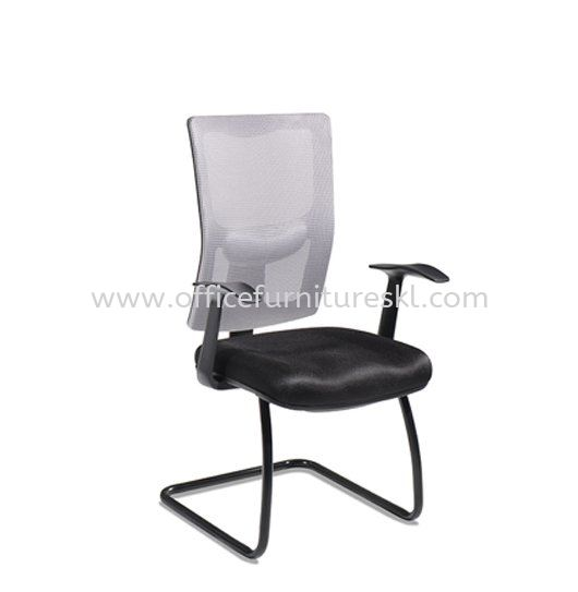 MELBY VISITOR ERGONOMIC MESH OFFICE CHAIR WITH STEEL BASE & BACK SUPPORT-ergonomic mesh office chair sungai besi furniture world | ergonomic mesh office chair sunway velocity | ergonomic mesh office chair top 10 best design office chair