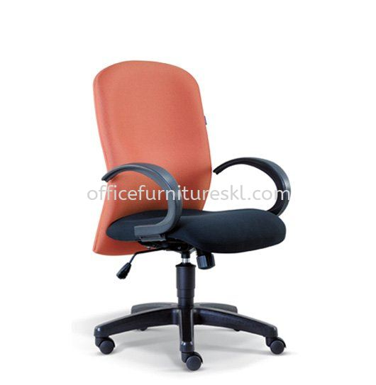 JONFI STANDARD LOW BACK FABRIC CHAIR WITH POLYPROPYLENE BASE (B)