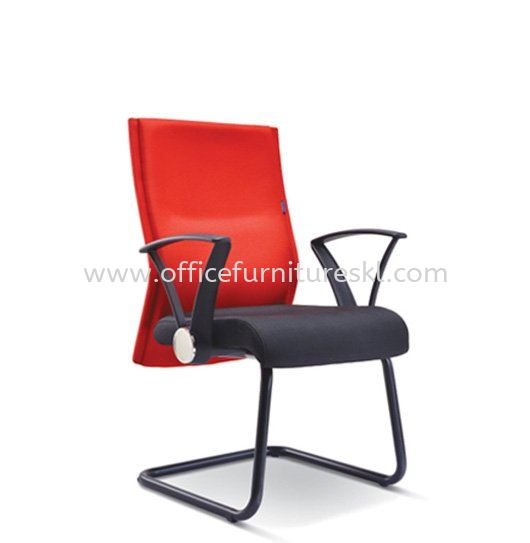 MAGINE STANDARD VISITOR FABRIC CHAIR WITH EPOXY BLACK CANTILEVER BASE