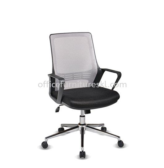 STRANMAN LOW BACK ERGONOMIC MESH CHAIR WITH CHROME BASE- SM-C2