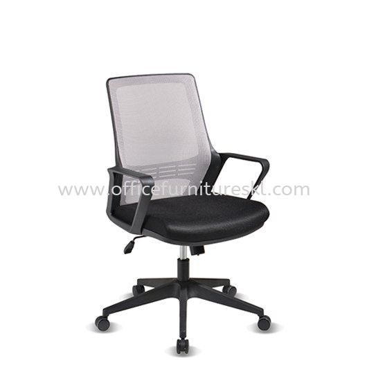 STRANMAN LOW BACK ERGONOMIC MESH CHAIR WITH NYLON BASE- SM-P2