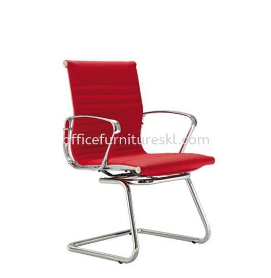 SEFINA EXECUTIVE VISITOR LEATHER CHAIR UPHOLSTERY WITH CHROME BODY FRAME