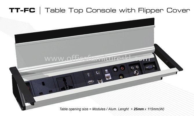 TABLE CONSOLE WITH FLIPPER COVER 1 - Table Console Rawang | Table Console Bandar Botanic | Table Console Bandar Bukit Raja | Table Console Bandar Bukit Tinggi