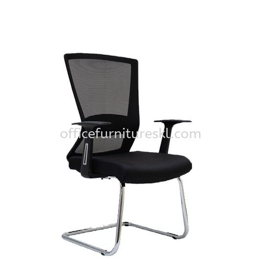 WILLY 1 VISITOR ERGONOMIC MESH CHAIR C/W CHROME CANTILEVER BASE