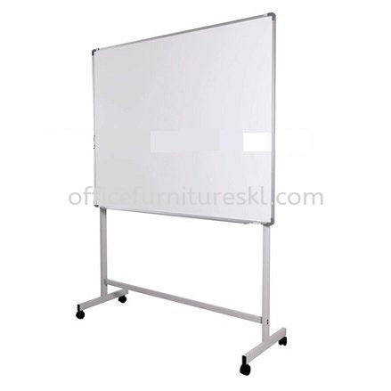 SINGLE SIDED WHITE BOARD WITH MOBILE STAND-whiteboard bandar botanic | whiteboard bandar bukit raja | whiteboard bandar bukit tinggi