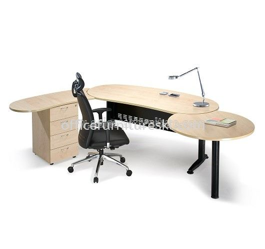 QAMAR OVAL SHAPE EXECUTIVE OFFICE TABLE QMB 33 W/O TEL CAP (Inner View) - Must Buy Executive Office Table | Executive Office Table Taman Puchong Utama | Executive Office Table Taman Perindustrian Puchong | Executive Office Table Cheras