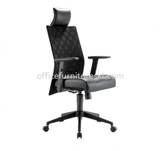 TRION EXECUTIVE HIGH BACK LEATHER OFFICE CHAIR - office chair ready stock | executive office chair tmc bangsar | executive office chair mid valley | executive office chair bandar teknologi kajang