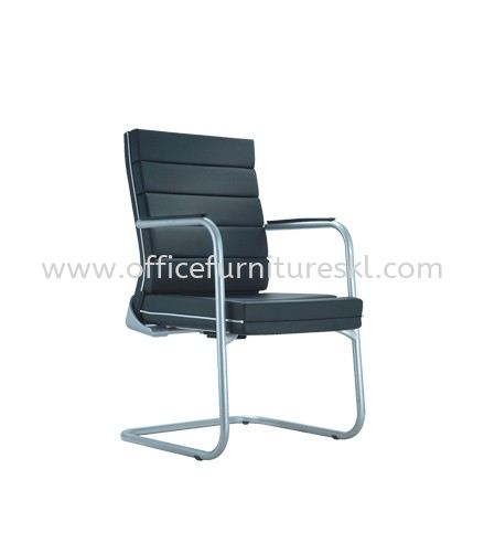 TREND EXECUTIVE VISITOR LEATHER CHAIR WITH CHROME TRIMMING LINE ACL 5055