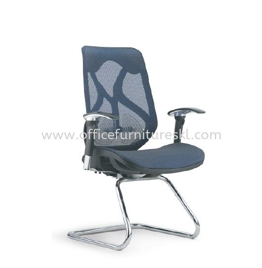 NOVUM 2 VISITOR FULLY MESH ERGONOMIC OFFICE CHAIR WITH CHROME CANTILEVER BASE-ergonomic mesh office chair 1 utama shopping centre | ergonomic mesh office chair ukay perdana | ergonomic mesh office chair office chair direct from factory