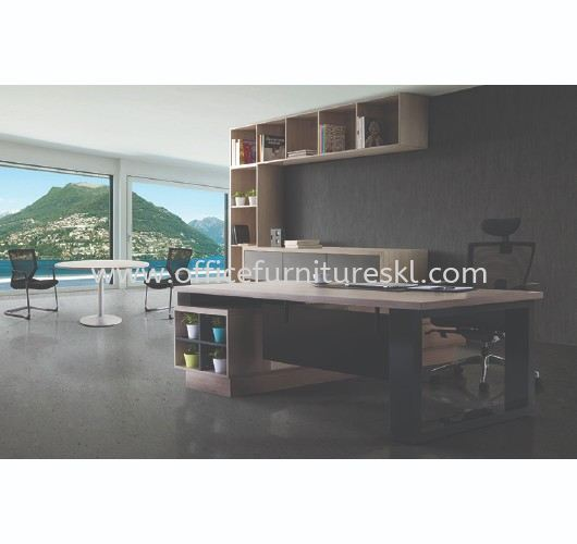 BELCO EXECUTIVE DIRECTOR OFFICE TABLE FRONT VIEW - Top 10 Best Budget Director Office Table | Director Office Table Balakong | Director Office Table Mahkota Cheras | Director Office Table Puchong