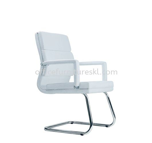 QUODRO (A) EXECUTIVE VISITOR LEATHER OFFICE CHAIR - year end sale | executive office chair taipan 2 damansara | executive office chair pusat dagangan nzx | executive office chair pandan indah