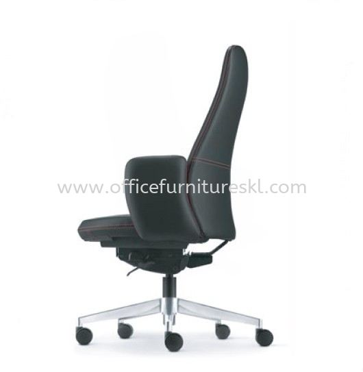 EVE DIRECTOR MEDIUM BACK LEATHER OFFICE CHAIR WITH ALUMINIUM BASE AND FIXED ARMREST -director office chair jalan ceylon | director office chair jalan kia peng | director office chair jalan perak