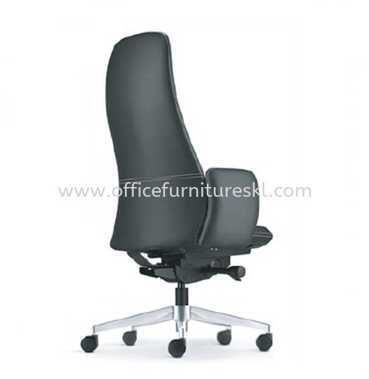 EVE DIRECTOR HIGH BACK LEATHER OFFICE CHAIR WITH ALUMINIUM BASE AND FIXED ARM