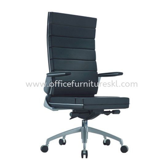 TREND EXECUTIVE HIGH BACK LEATHER CHAIR WITH CHROME TRIMMING LINE ACL 5011