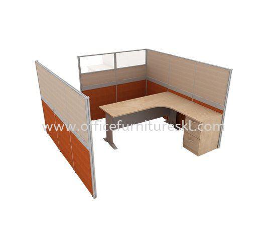 CLUSTER OF 1 OFFICE PARTITION WORKSTATION 2 - Top 10 Best Recommended Partition Workstation   Partition Workstation Bukit Damansara   Partition Workstation Damansara Town Centre   Partition Workstation Batu Caves