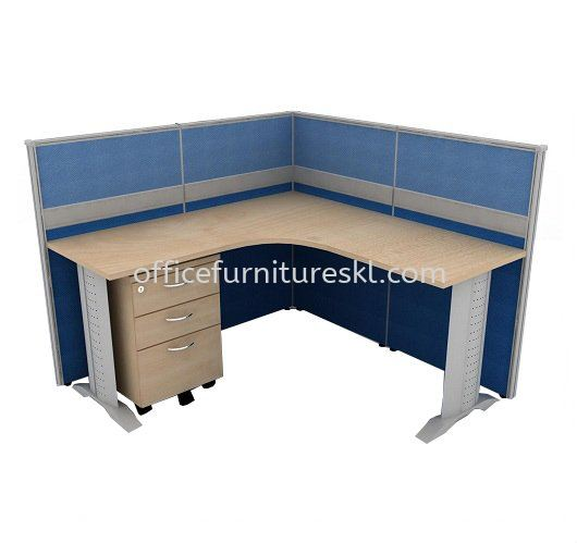 CLUSTER OF 1 OFFICE PARTITION WORKSTATION 5 - Top 10 Best Comfortable Partition Workstation | Partition Workstation Sunway Damansara | Partition Workstation Tropicana Garden Mall | Partition Workstation Wangsa Maju
