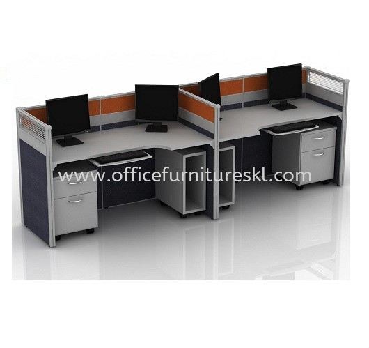 CLUSTER OF 2 OFFICE PARTITION WORKSTATION 2 - Top 10 Best Budget Partition Workstation   Partition Workstation Plaza Perabot 2020 Furniture Mall   Partition Workstation Sungai Besi Furniture World   Partition Workstation Jalan P.Ramlee
