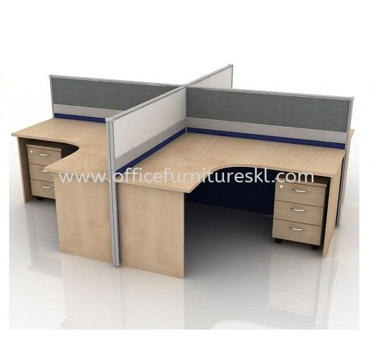 CLUSTER OF 4 OFFICE PARTITION WORKSTATION 8 - Near Me Partition Workstation   Partition Workstation Taman Perindustrian UEP   Partition Workstation Taman Perindustrian Utama   Partition Workstation Ukay Perdana
