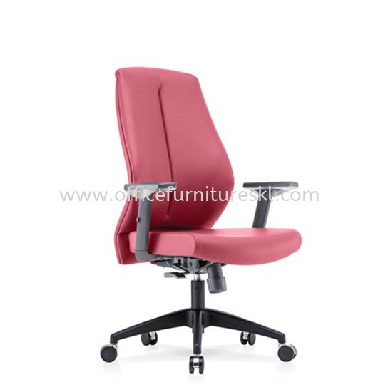 SENSE 1 EXECUTIVE MEDIUM BACK LEATHER CHAIR WITH NYLON ROCKET BASE MB-C 04
