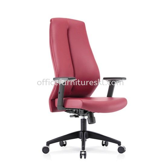 SENSE 1 EXECUTIVE HIGH BACK LEATHER CHAIR WITH NYLON ROCKET BASE HB-C 03
