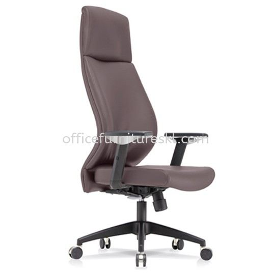 SENSE 3 EXECUTIVE EXTRA HIGH BACK LEATHER CHAIR WITH NYLON ROCKET BASE HB-C 02