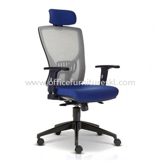 SANIE HIGH BACK ERGONOMIC MESH OFFICE CHAIR WITH ADJUSTABLE ARMREST AND NYLON BASE-ergonomic mesh office chair subang square business centre | ergonomic mesh office chair desa park city | ergonomic mesh office chair top 10 best selling office chair