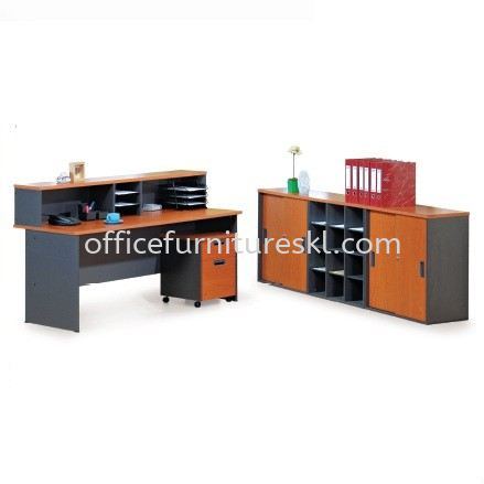 MUPHI RECEPTION COUNTER OFFICE TABLE - 12.12 crazy sale | reception counter office table atria shopping | reception counter office table damansara intan | reception counter office table menjalara